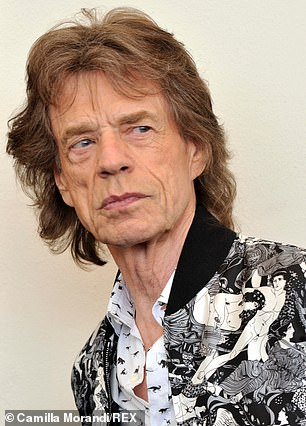 Nobody admits to styling or dyeing Jagger's chestnut mullet