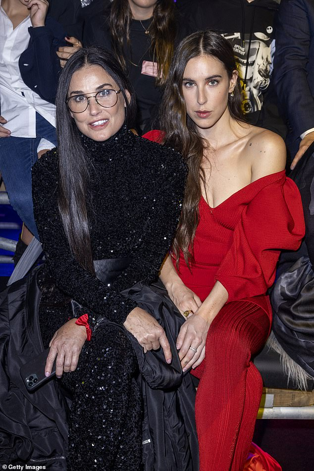, Demi Moore admires 'the art' of Europe as she strikes a pose next to a giant penis statue, The Habari News