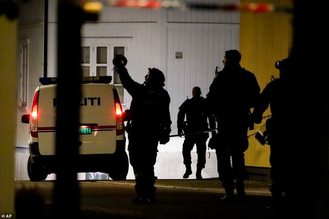 Officials are thought to be probing a possible terror motive after the suspect fired at random victims across a 'wide area' of Kongsberg