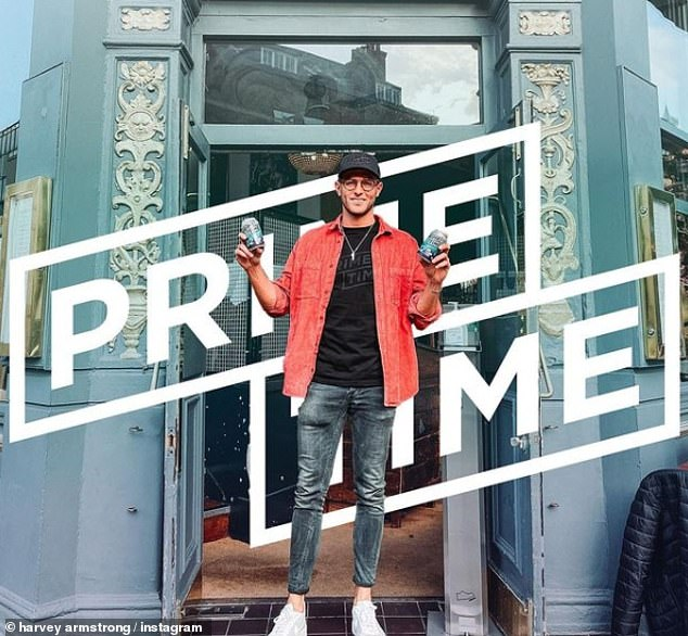Busy Boy: And speaking to MailOnline, Harvey revealed that re-filming the new series in the 'real world' as well as launching their own beer brand - Prime Time Lager - put some pressure on the fledgling couple - Which looks like it's made though.  Through