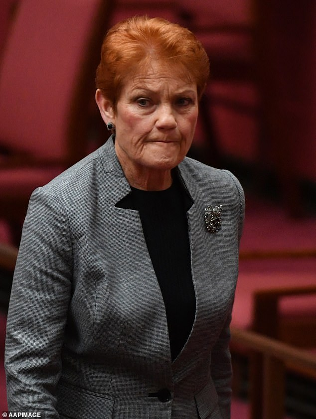 Canceled: At the time, Jessica faced a backlash for interviewing far-right One Nation politician Pauline Hanson (pictured) on her podcast