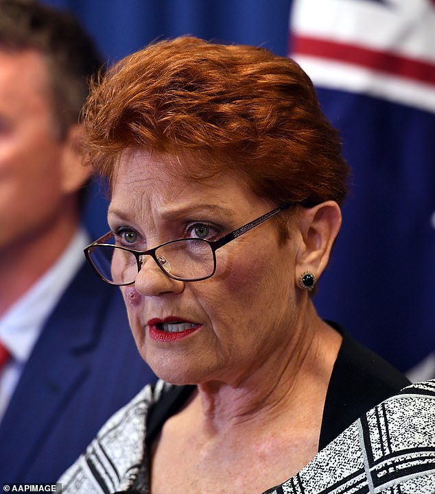 Answer: Hanson has since taken action against Southern Cross Austereo, telling the company that it had pulled One Nation's expensive TV campaign off the network