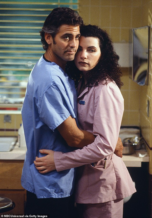 Something special: In an interview back in April, Margulies revealed that she and Clooney had crushes on each other while they filmed ER