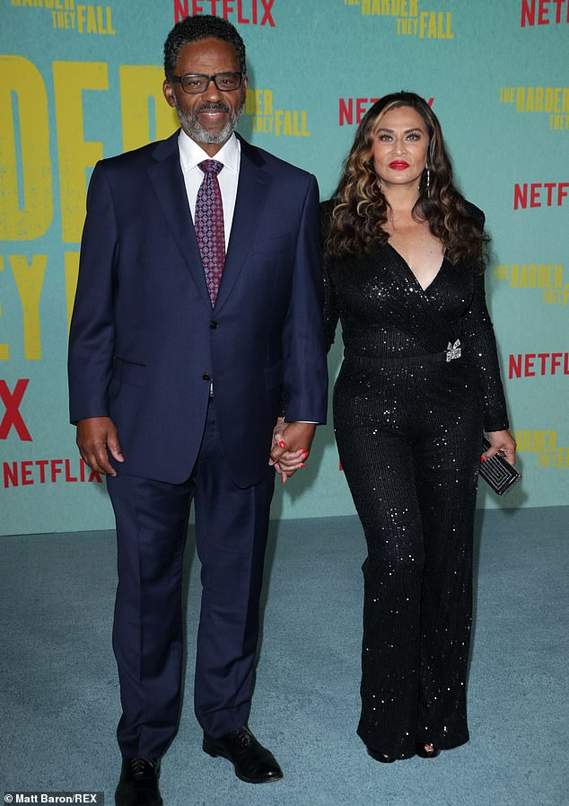 Support system: The 51-year-old rap mogulwas joined by Beyonce's mom Tina Knowles and her husband Richard Lawson