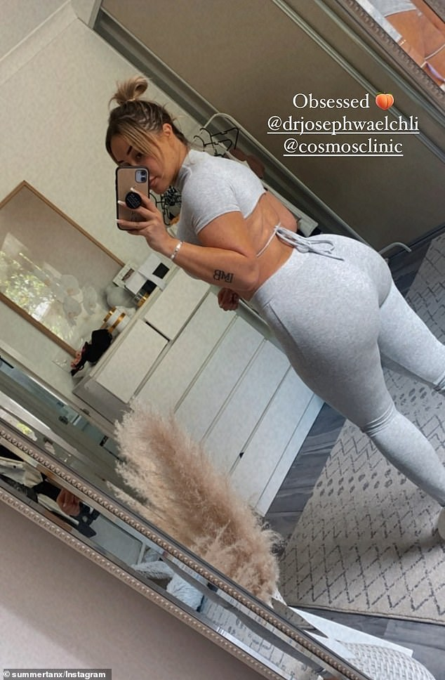 Peach !  Cathy Evans, 27 (pictured) posted the results of her Brazilian butt lift on Thursday, sharing the results on Instagram