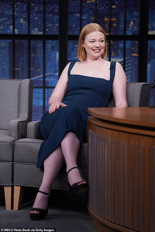Costume:Sarah Snook opens up about discovering Halloween costumes based on her Succession character Siobhan 'Shiv' Roy on Late Night with Seth Meyers