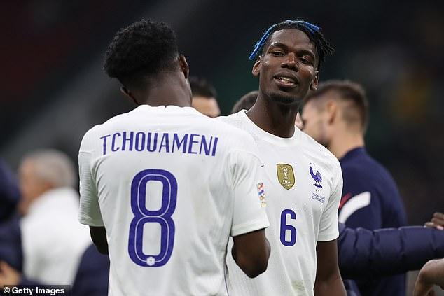 Manchester United star Paul Pogba is a big fan of France team-mate Aurelien Tchouameni