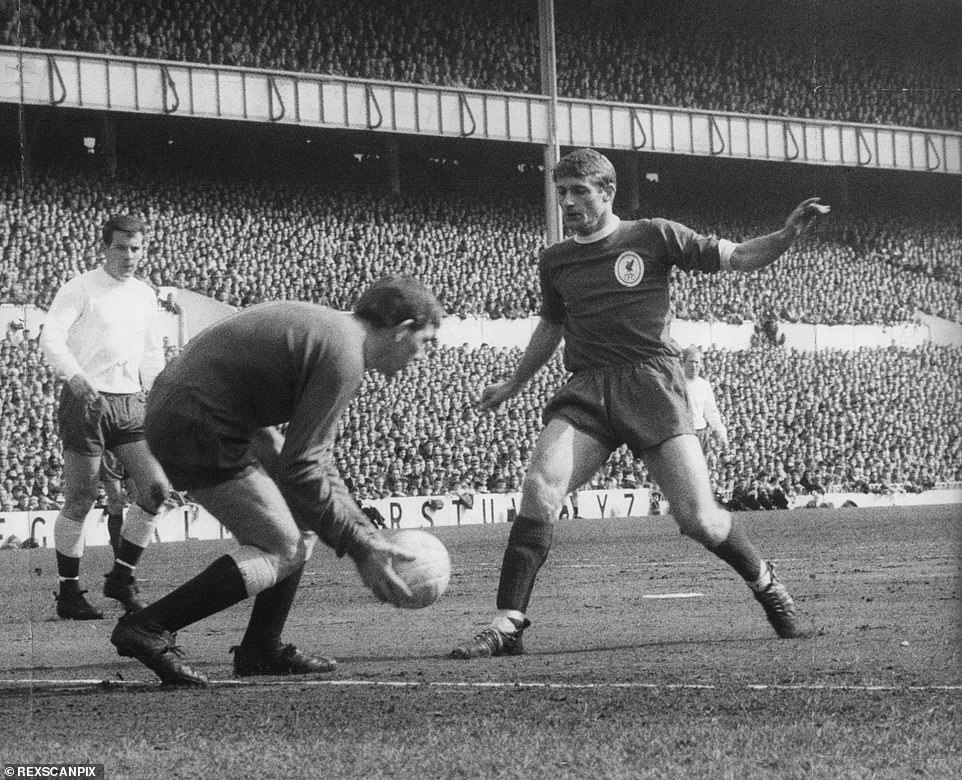 Hunt won two First Division championships with Liverpool, a Second Division and the FA Cup . He is pictured away at Spurs