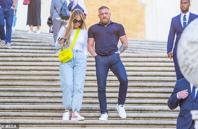 , Conor McGregor is flanked by FOUR security guards in Rome with fiancée Dee Devlin, The Today News USA