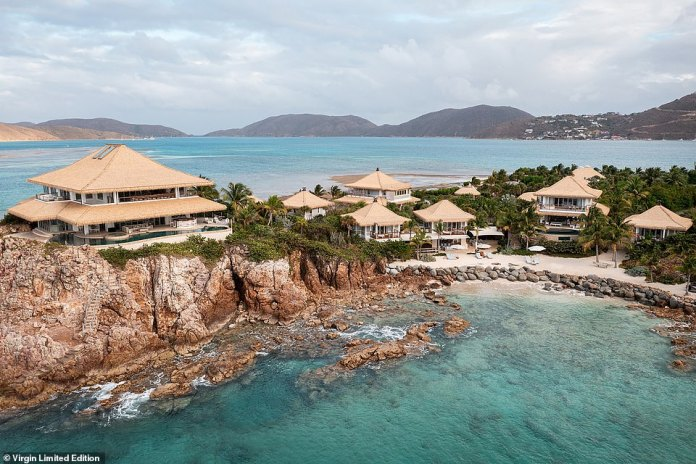 The 11-bedroom Branson Estate, pictured above, was the first to be built on Moskito Island