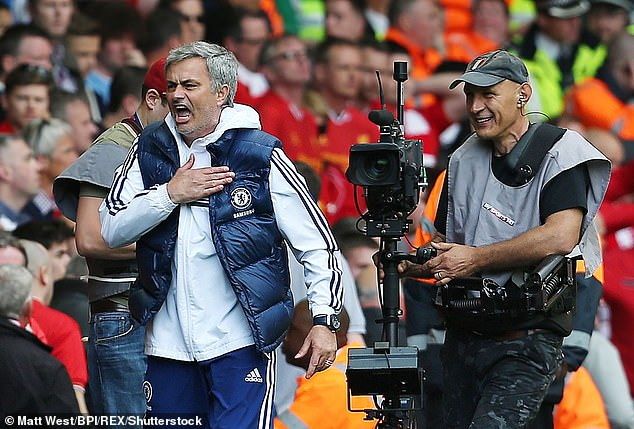 There were wild scenes on the touchline as Jose Mouinho performed a trademark celebration