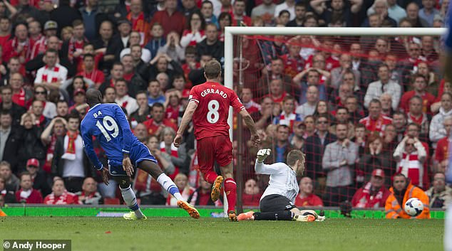 The forward pounced on a crucial mistake by Steven Gerrard to score the opener at Anfield