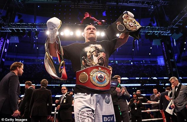 Former cruiserweight king Usyk now holds the WBA, WBO and IBF heavyweight belts