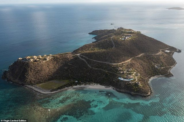 Pictured above is Moskito Island - Richard Branson's latest billionaire's holiday playground