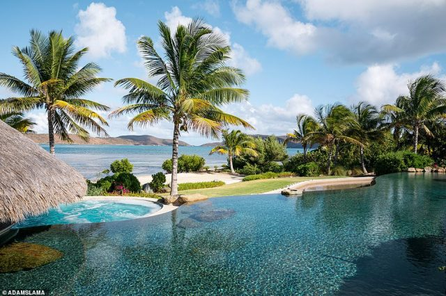 'What makes Moskito Island so wonderfully different is its personality and charm,' says Jon Brown, CEO of Virgin Limited Edition. Pictured is the Beach Villa pool