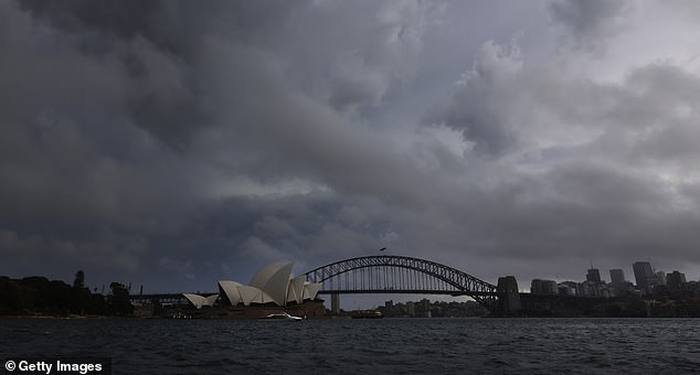 A devastating supercell storm rolled into Sydney mid-afternoon on Thursday