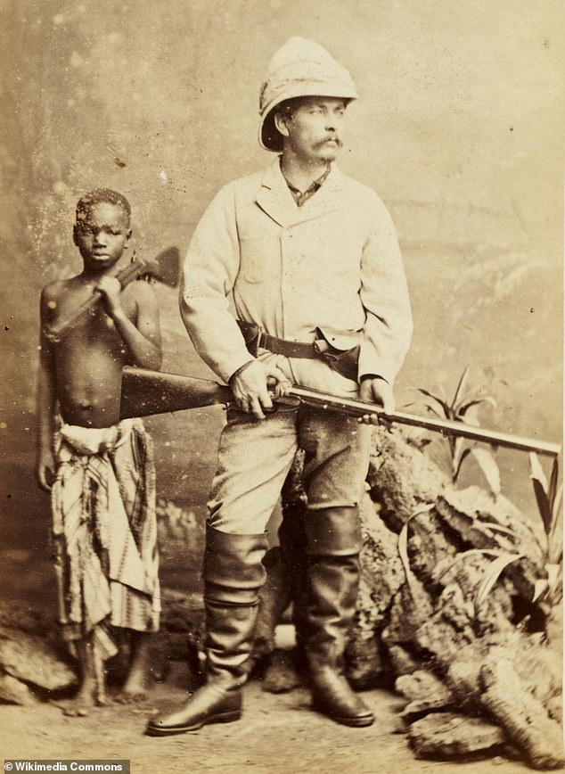 Sir Henry Morton Stanley, pictured, worked for Belgian King Leopold II who was notorious for the barbarous acts he committed on the population of the Congo Free State - now the Democratic Republic of Congo
