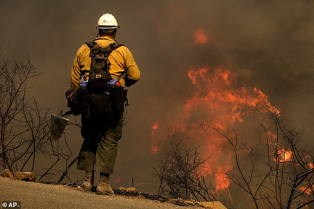 Shifting winds posed new challenges for firefighters battling the blazewhich started on Monday near the Alisal Reservoir, and was just 5 per cent contained by Wednesday evening
