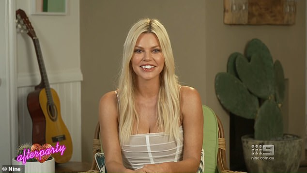 Embarrassing!  After recovering well, she then made a live video call with Sophie Monk - who oddly said to Abbie: