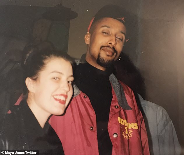 Parents: Maya's new hosting job comes after she candidly revealed her heartbreak growing up with an absentee father (pictured is Maya's mother Sadie and father Hussein)