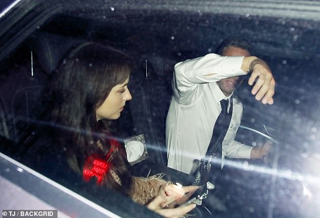 Going home: They got in a car together to go back to the hotel