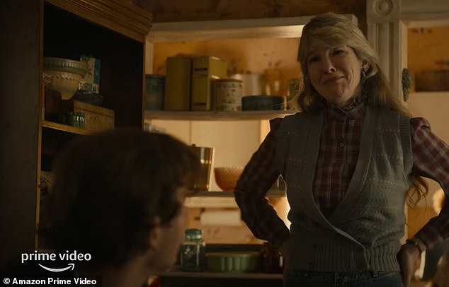 The good mom: Lily Rabe plays her mother who does her best to help her son