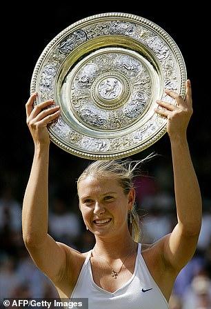 Sharapova won Wimbledon aged 17 in 2004