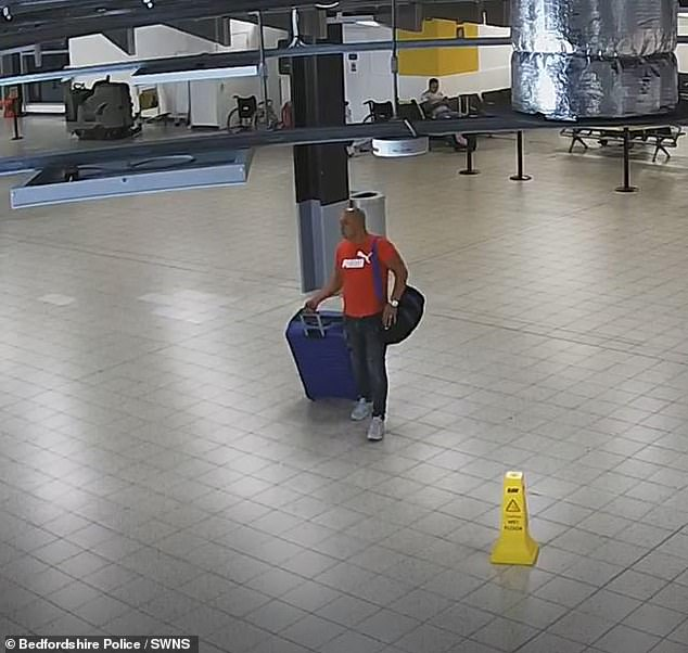 Hornea, pictured here in Luton Airport, recently featured in the Channel 4 documentary 24 Hours in Police Custody