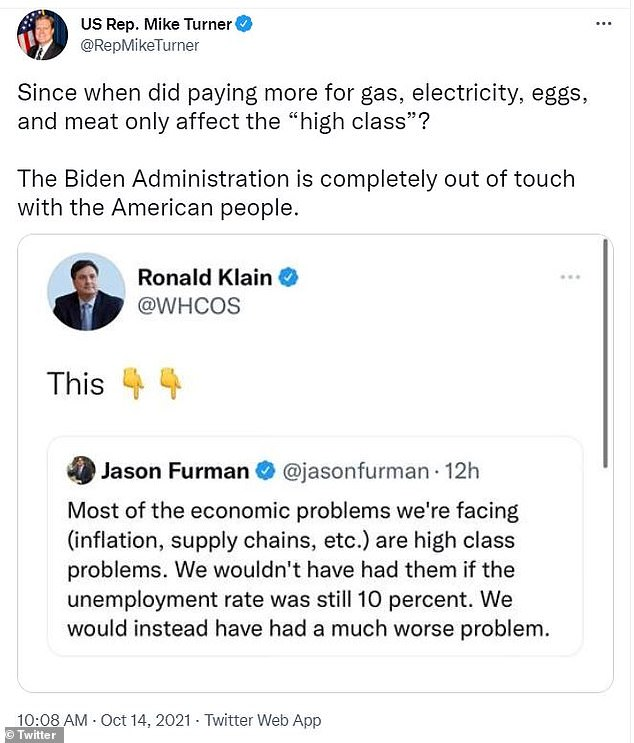 , WH Ron Klain promotes tweet calling inflation and supply chain crisis 'high class problems', Nzuchi Times National News