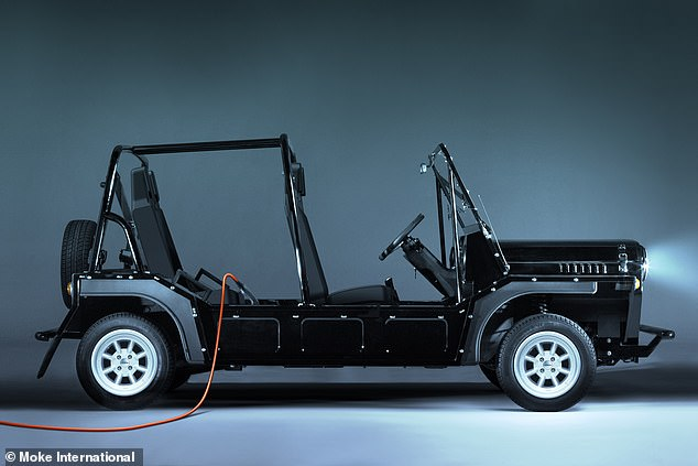 Moking an electric return: This is the new Moke International electrified model that is on sale from today and will arrive in summer 2020. It has a range of just 89 miles on a full charge, which takes four hours