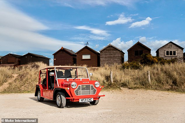 Powering the electric Mini Moke is a33Kw motor and battery - the size of which hasn't been revealed yet - offering a top speed of just 62mph