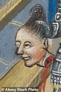 His severed head in 14th century painting of the aftermath of his defeat