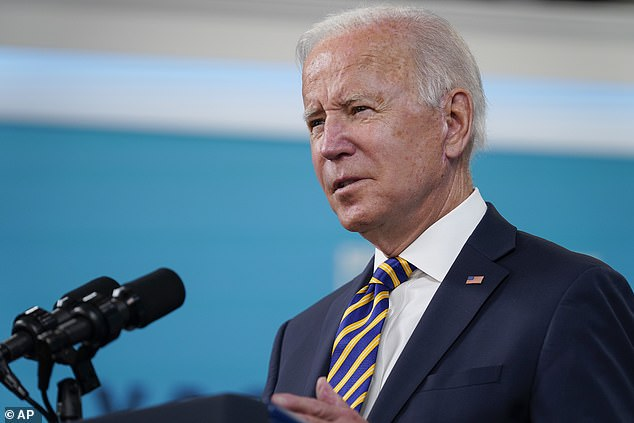 President Joe Biden spoke for six minutes on Thursday, delivering a COVID-19 update. He left the podium without taking questions