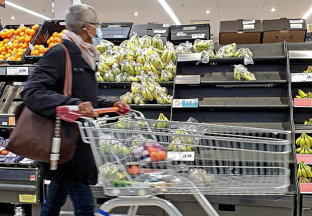 Today: With the price of fuel and food rising, shoppers are facing empty shelves in supermarkets