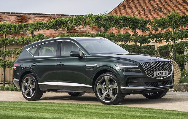 Imposing: The new Genesis GV80 SUV, which costs from 56,815,is a serious contender to offerings fromto rival established players such as BMW, Mercedes-Benz and Audi