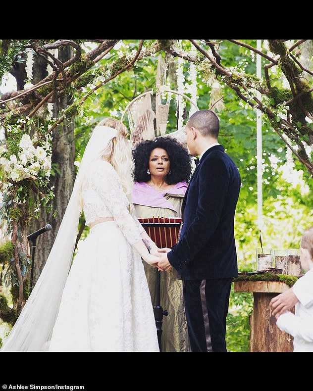 Lucky in love: The couple got married at the Connecticut estate owned by Evan's mom, music legend Diana Ross, in 2014