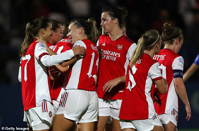 Arsenal have got their UEFA Women's Champions League campaign back on track on Thursday