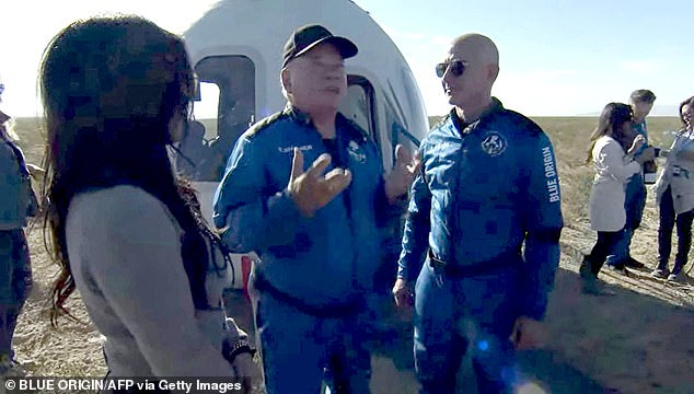 This week, William Shatner, (pictured with Blue Origin founder Jeff Bezos after the flight) at the grand old age of 90, made his own trip to the final frontier