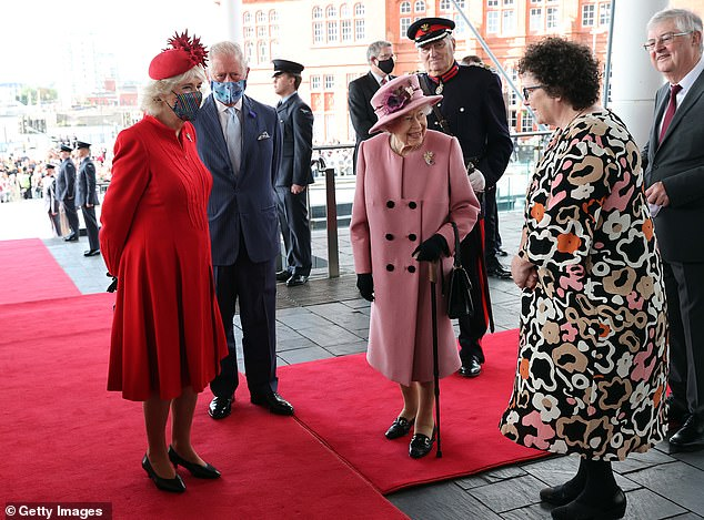 The 95-year-old monarch was speaking to the Duchess of Cornwall and Elin Jones, the parliament's presiding officer, when her remarks were picked up on the event's live stream
