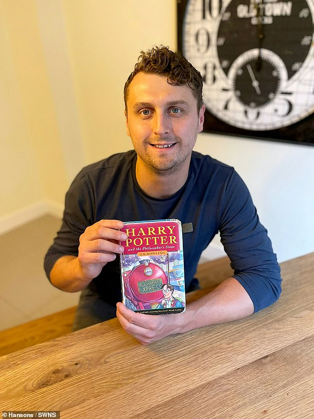 A first edition of Harry Potter And The Philosopher¿s Stone has been sold for £27,500 ¿ by a man named Harry Potter. The 33-year-old was given the hardback book as a gift from his father when it was released in 1997