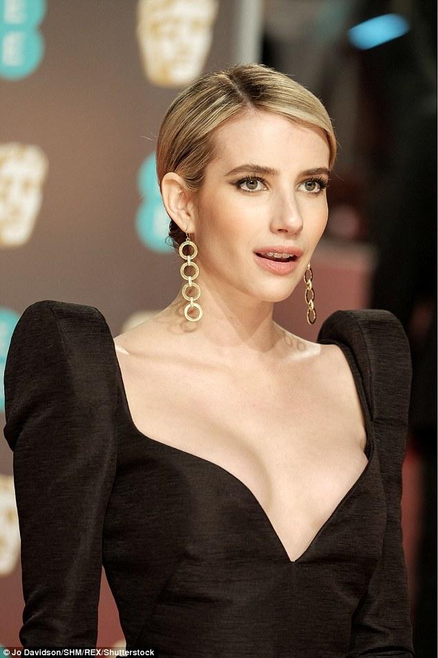 BAFTA Awards 2018 Emma Roberts Wears Black For Times Up