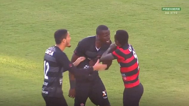 Tempers continued to fray and the trouble quickly spread to the terraces