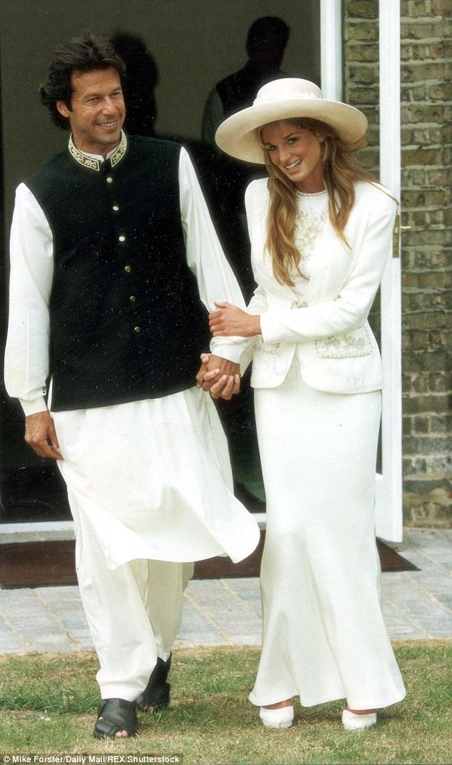 The English public schoolboy married glamorous socialite Jemima Goldsmith in 1995