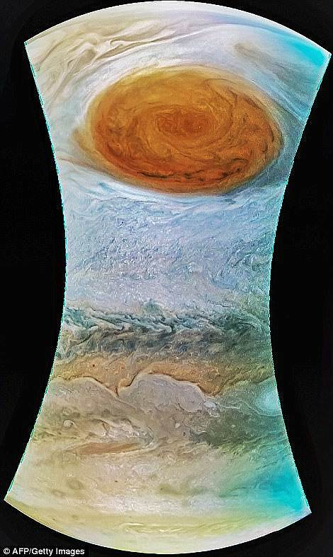 While storms on Jupiter can last for an extended period of time, those on Earth cannot because Earth's surface isn't covered in tens of thousands of miles of atmosphere