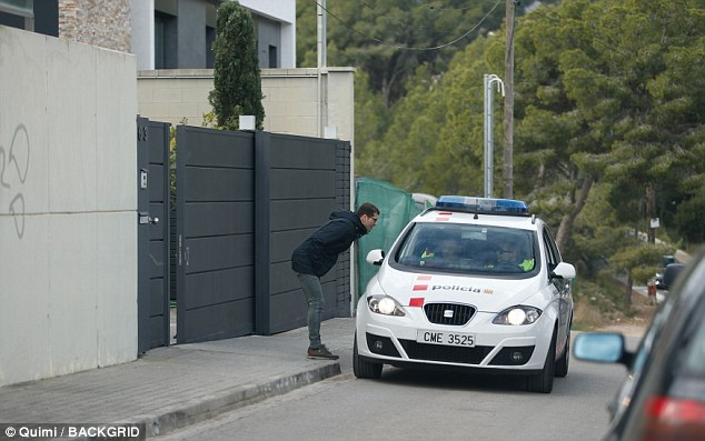 Spanish police rolled up outside Coutinho's house after it had allegedly been burgled