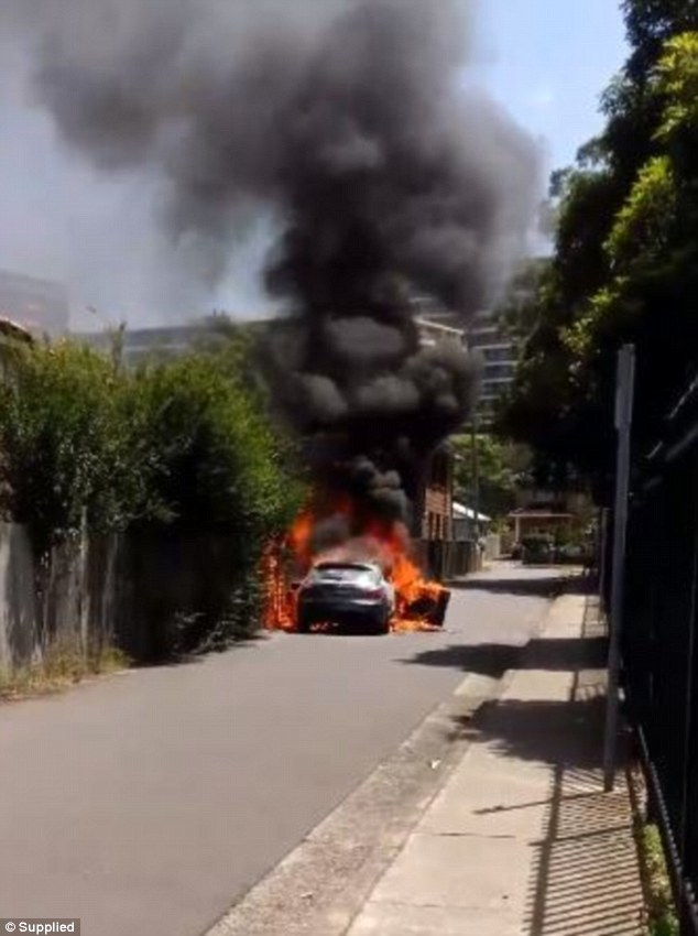 A vehicle used by those involved in the murder of bikie Mick Hawi was torched and dumped