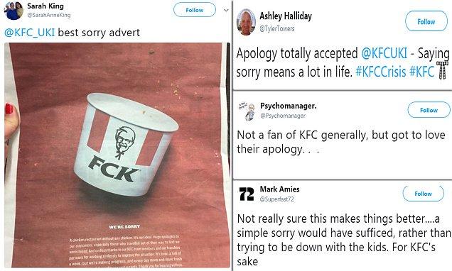 Elijah Cummings KFC crisis continues with newspaper 'FCK' apology   Daily ...