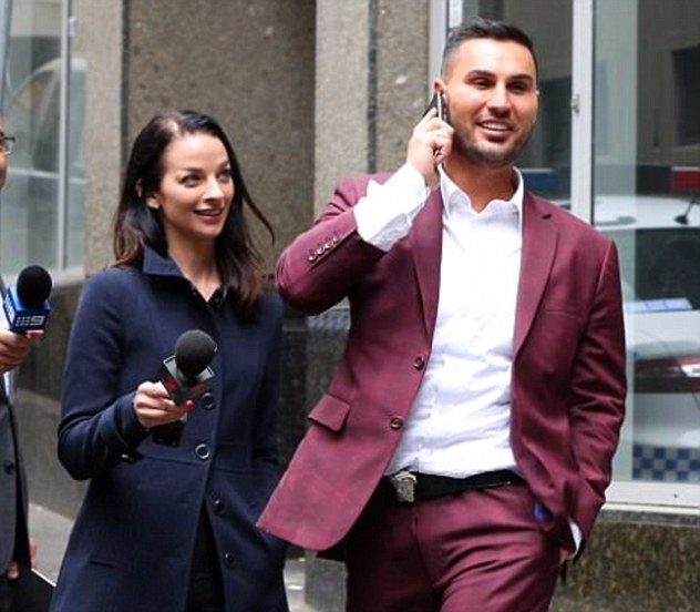 Property developer Salim Mehajer (right) was found guilty of assault occasioning bodily harm against TV reporter Laura Banks (left) outside a Sydney police station last year