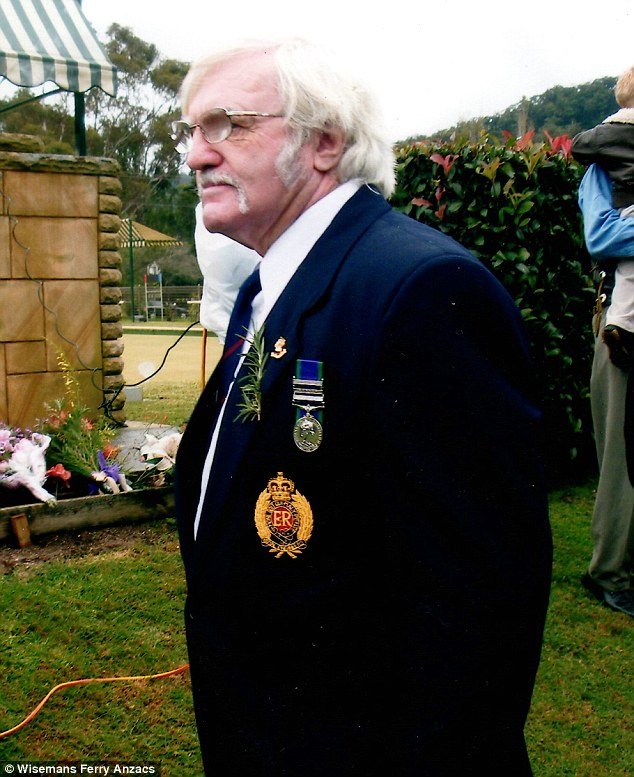 Comanchero founder and former British soldier William 'Jock' Ross pictured on Anzac Day