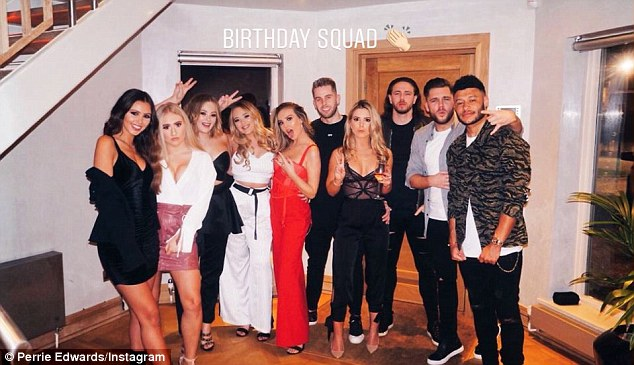 Oxlade-Chamberlain went with Edwards to Menagerie in Manchester for a friend's birthday